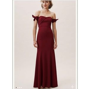 Delilah Dress in Bordeaux by Anthropologie*BHLDN